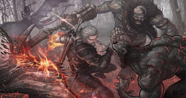 Uno splendido artwork di Geralt di Rivia in The Witcher 3