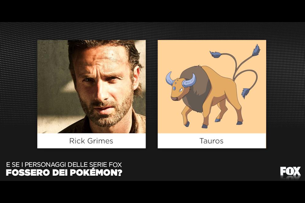 Cos'hanno in comune Rick Grimes e Tauros? Basta una parola: corna!