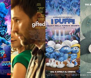 I poster dei film Guardiani della Galassia Vol. 2, Gifted, I Puffi e Fast & Furious 8