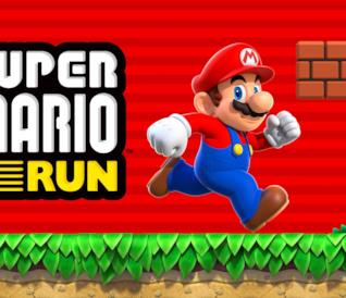 Super Mario corre sulla cover di Super Mario Run