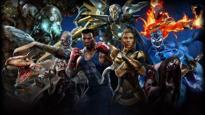 Tutti i lottatori della seconda stagione di Killer Instinct nella cover del gioco