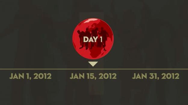 Il virus di The Walking Dead si è diffuso a gennaio 2012