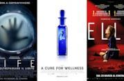 Le locandine dei film Life - Non Oltrepassare il Limite, La Cura dal Benessere, Elle