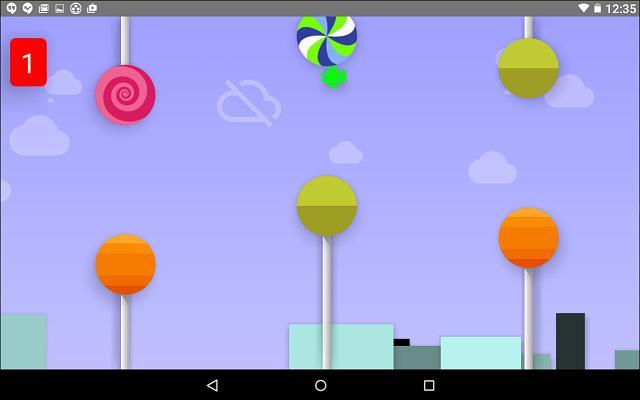 Una schermata dal gioco Lollipop, omaggio a Flappy Bird