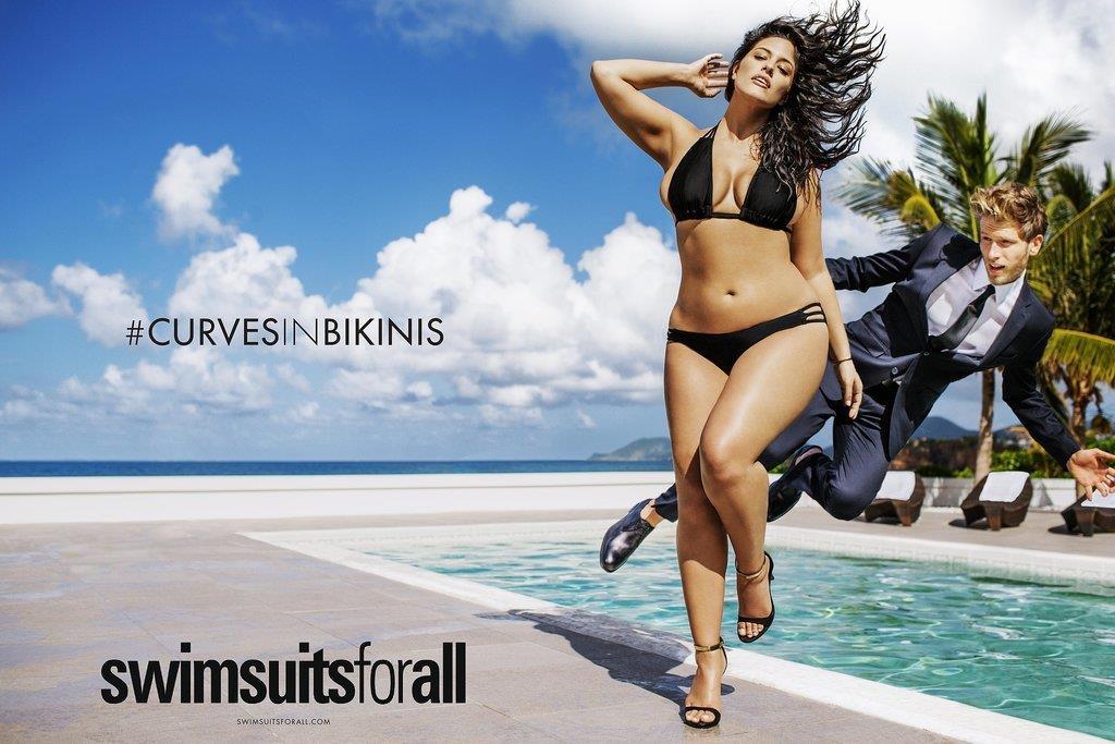 Immagine per la campagna #CurvesInBikinis con la modella Ashely Graham