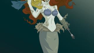 La Sirenetta Ariel in decomposizione