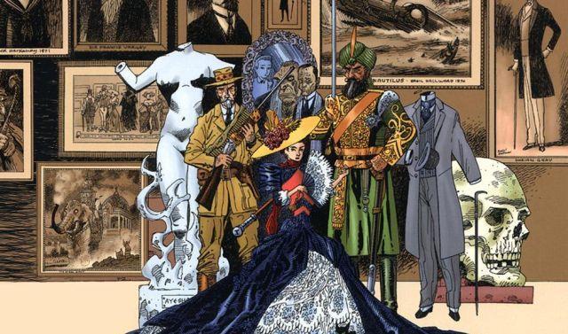Immagine dal fumetto La lega degli uomini straordinari