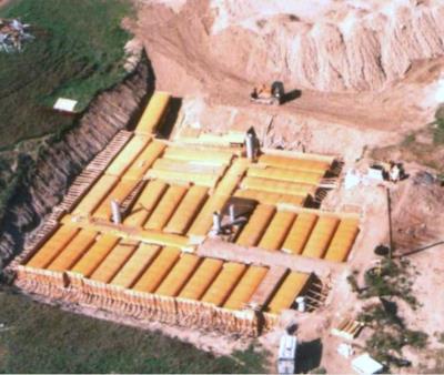 Un anziano signore canadese ha costruito un bunker con degli autobus