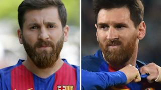 Messi e il suo sosia iraniano