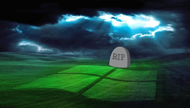 Finestra di Windows XP con sfondo di un cielo