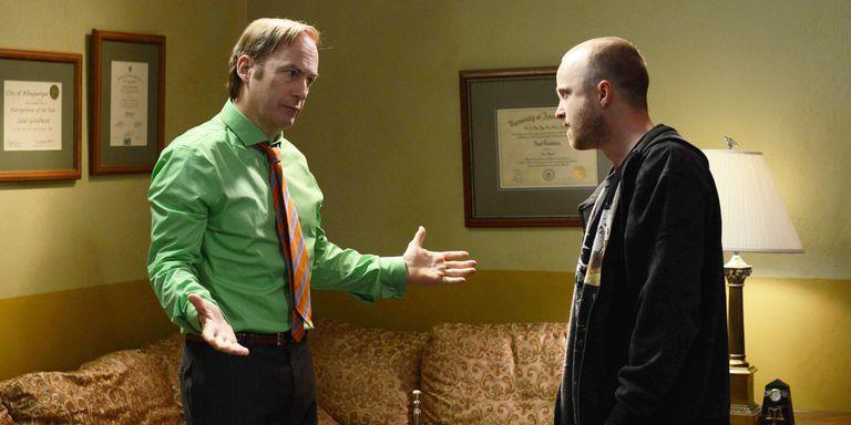 A sinistra Saul Goodman, a destra Jesse Pinkman