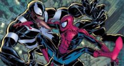 Lo scontro tra Venom e Spidey in un artwork dal fumetto