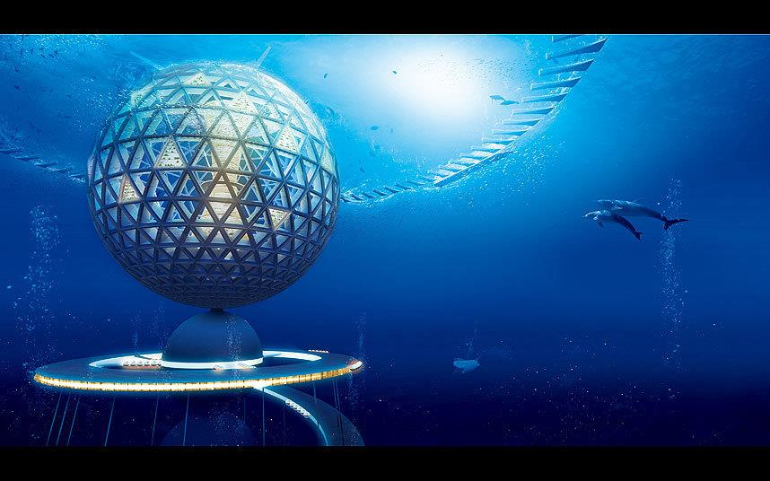 Veduta della città sottomarina