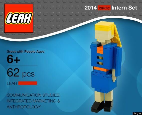 Versione LEGO di una persona, per un lavoro
