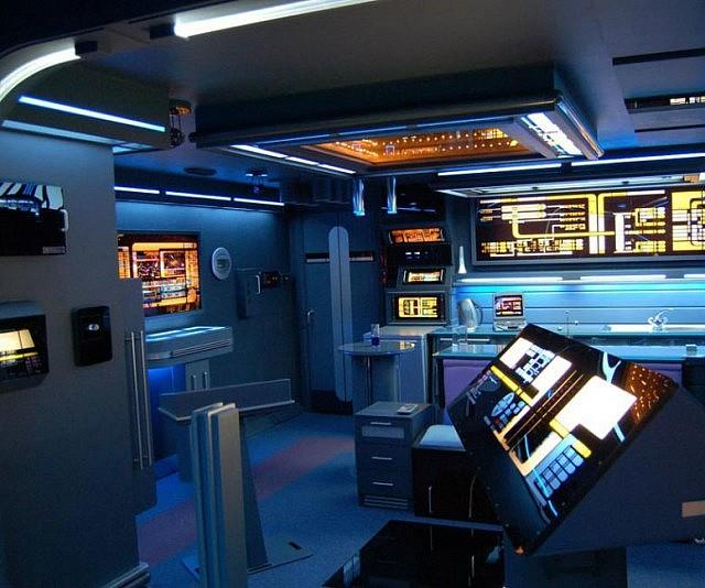 Interno del monolocale a tema Star Trek