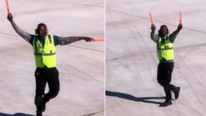 Parcheggiatore di aerei ballerino