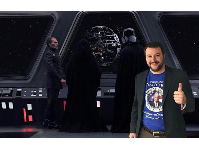 Meme di Salvini sulla Morte Nera