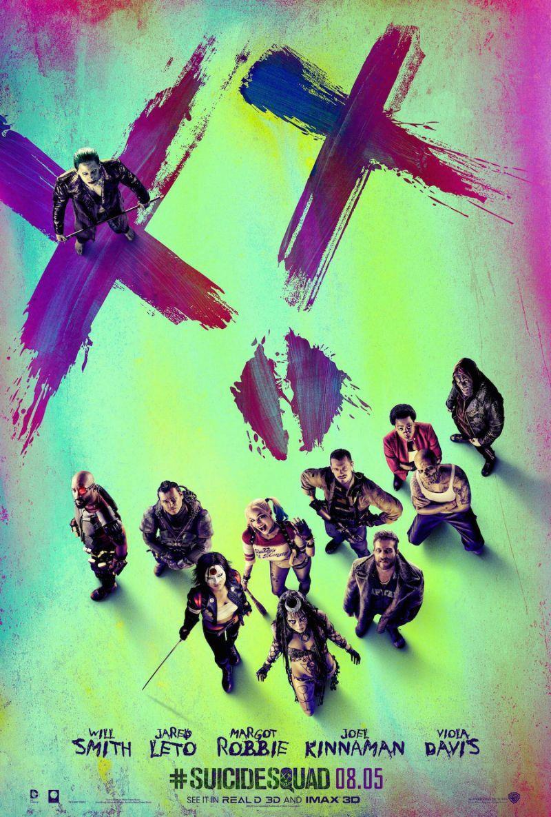 Il poster live-action di Suicide Squad con la squadra al completo