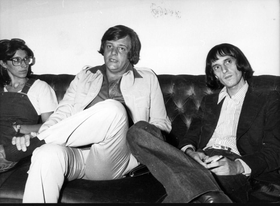 George Romero in una foto dell'epoca con Dario Argento