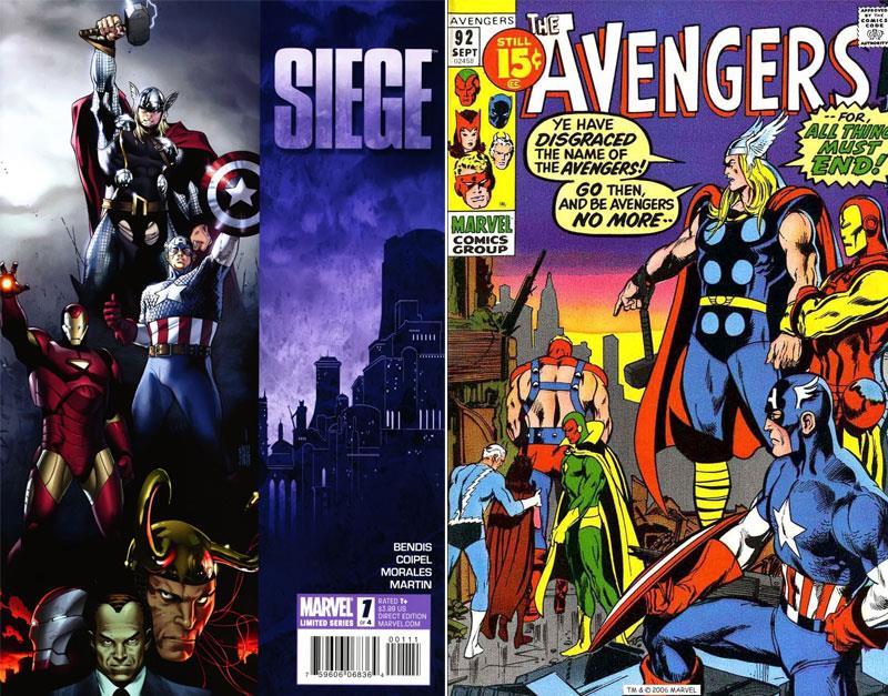 Le cover di Siege e degli Avenger