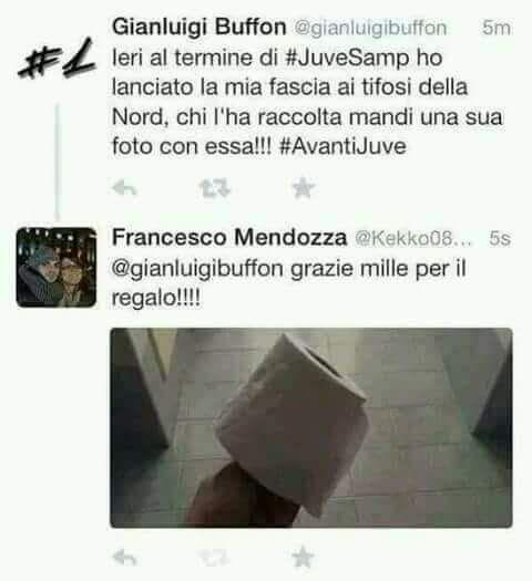Un retweet sarcastico a Buffon - Immagini divertenti per WhatsApp da scaricare gratis