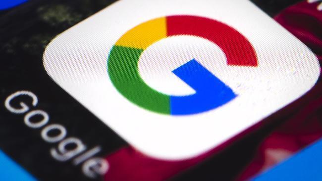La foto di uno schermo con l'icona di Google