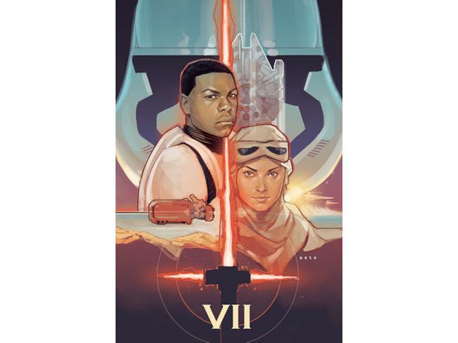 poster in stile classico di Star Wars 7