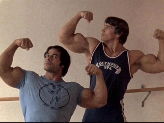 Franco Columbo e Arnold Schwarzenegger in gioventù