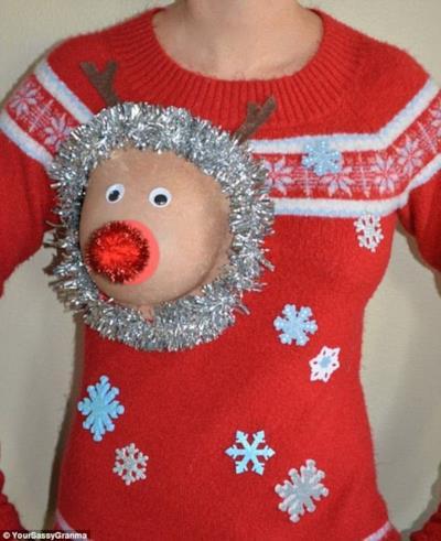 Il maglione trash natalizio
