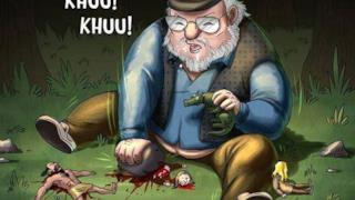 George R. R. Martin uccide i suoi personaggi in una fanart