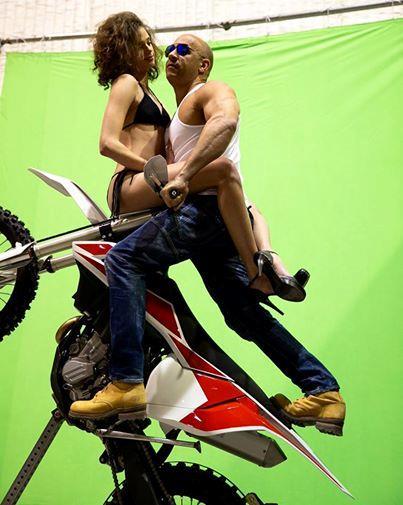 Vin Diesel in una delle prime immagini dal set di xXx 3
