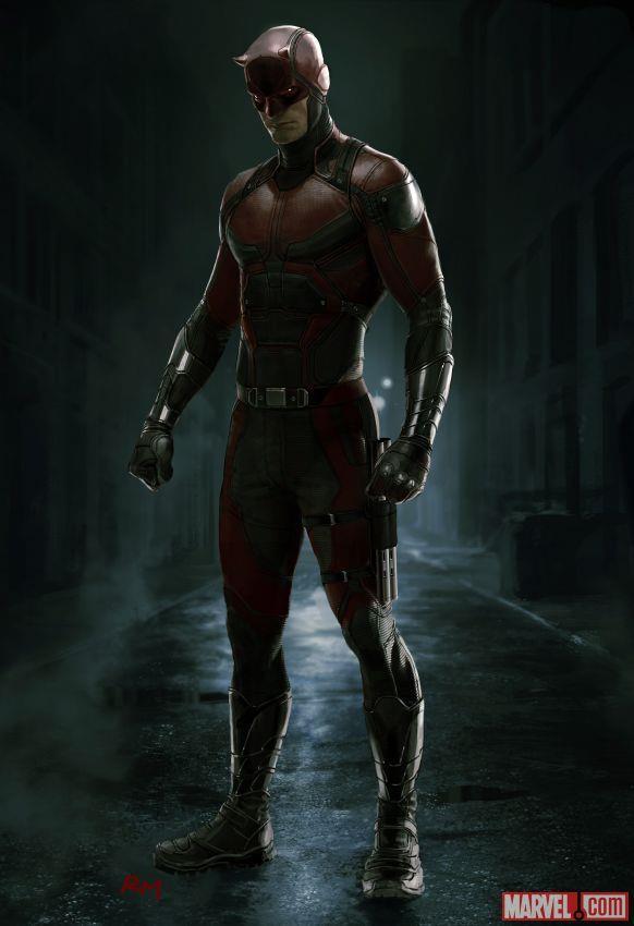 In una nuova concept art Daredevil indossa il classico costume rosso