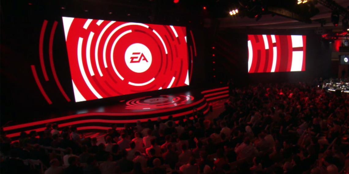 Il palco della conferenza Electronic Arts E3 2018