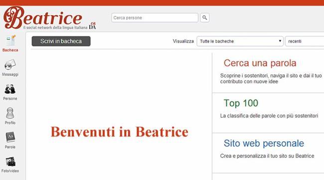 Beatrice è il nuovo social network sulla lingua italiana