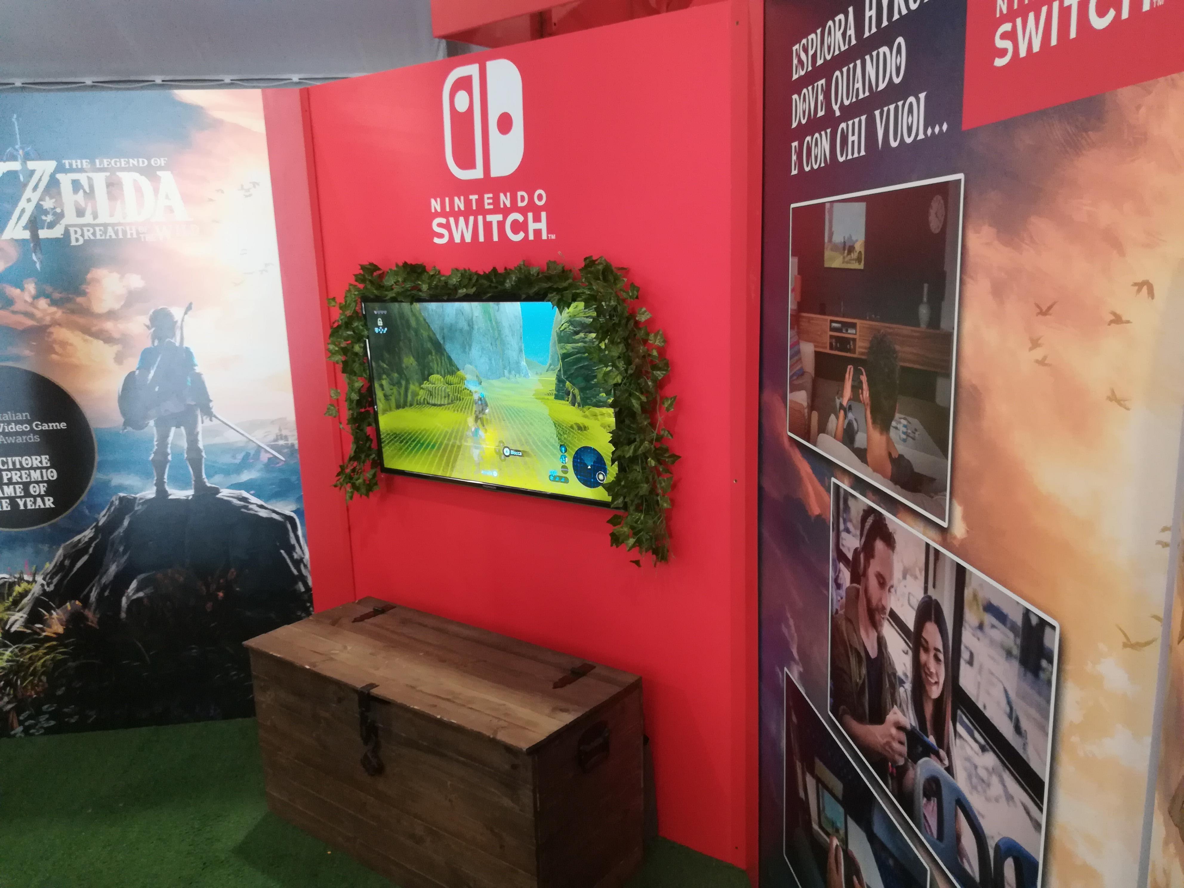 Lo stand di Nintendo a Etna Comics