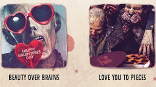 Alcuni esempi dei biglietti di San Valentino di The Walking Dead