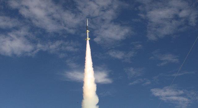 Uno dei missili lanciati dalla NASA in passato.