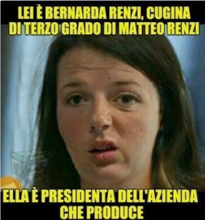 Il meme diffuso con Bernarda Renzi