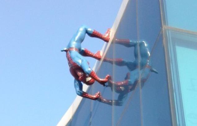 Statua dell'Uomo Ragno in Corea