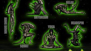 Le mini-figures con lo xenomorfo di Alien