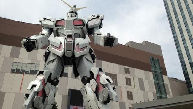 Un Gundam a protezione di Odaiba, vicino Tokyo