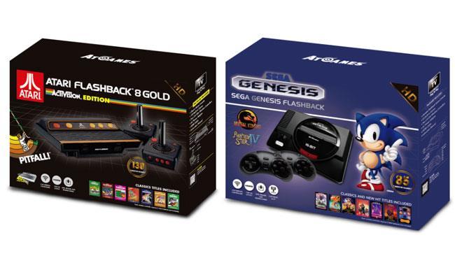 Il packaging del nuovo SEGA Genesis Flashback e del Atari Flashback 8 Gold