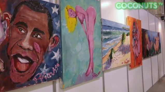 Barack Obama: uno dei ritratti di celebrità di Pricasso