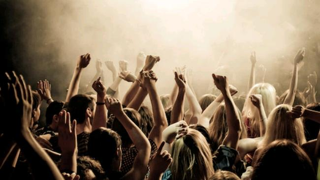 La foto di un concerto