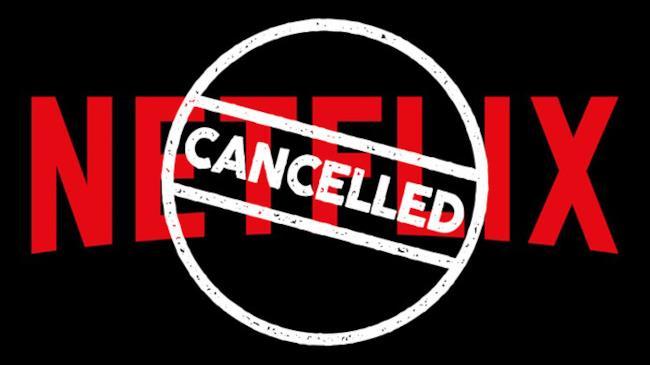 Il logo di Netflix cancellato