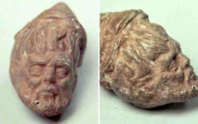Una testa di terracotta messicana