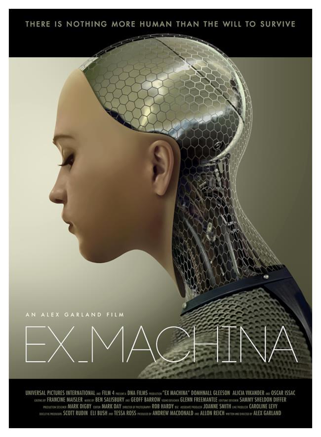 Uno dei poster ufficiali di Ex-Machina, lo sci-fi di Alex Garland