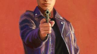 Trunks del Futuro con una pistola