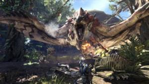 Una scena tratta da Monster Hunter World