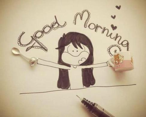 vignetta con la scritta good morning